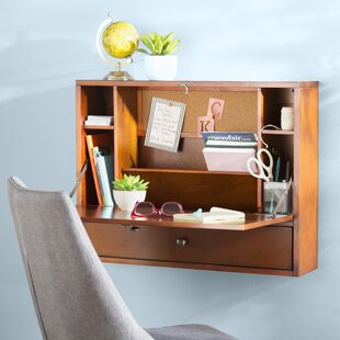Ardilla Solid Wood Floating Desk by Turn on the Brights