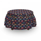 Vans Ottoman Slipcover (Set of 2) by East Urban Home