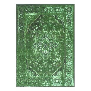 Hickory Green Area Rug by World Menagerie
