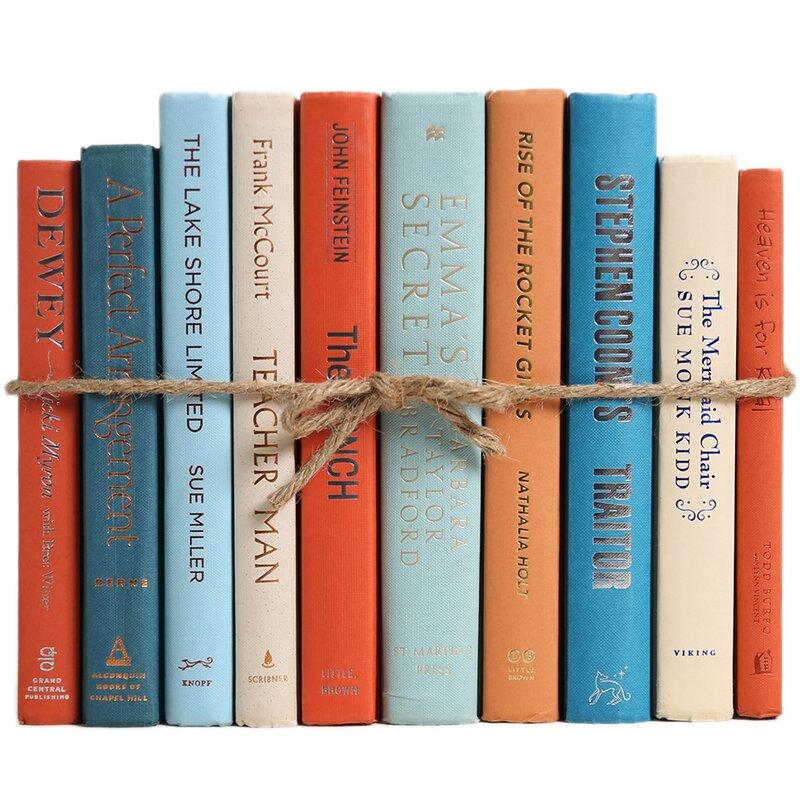 Booth Williams 10 Piece Ocean Colorpak Authentic Decorative Book Set Reviews Wayfair