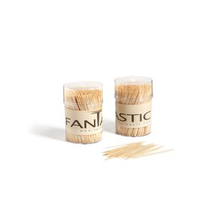 Hedman Large Round Bamboo Wooden Toothpicks