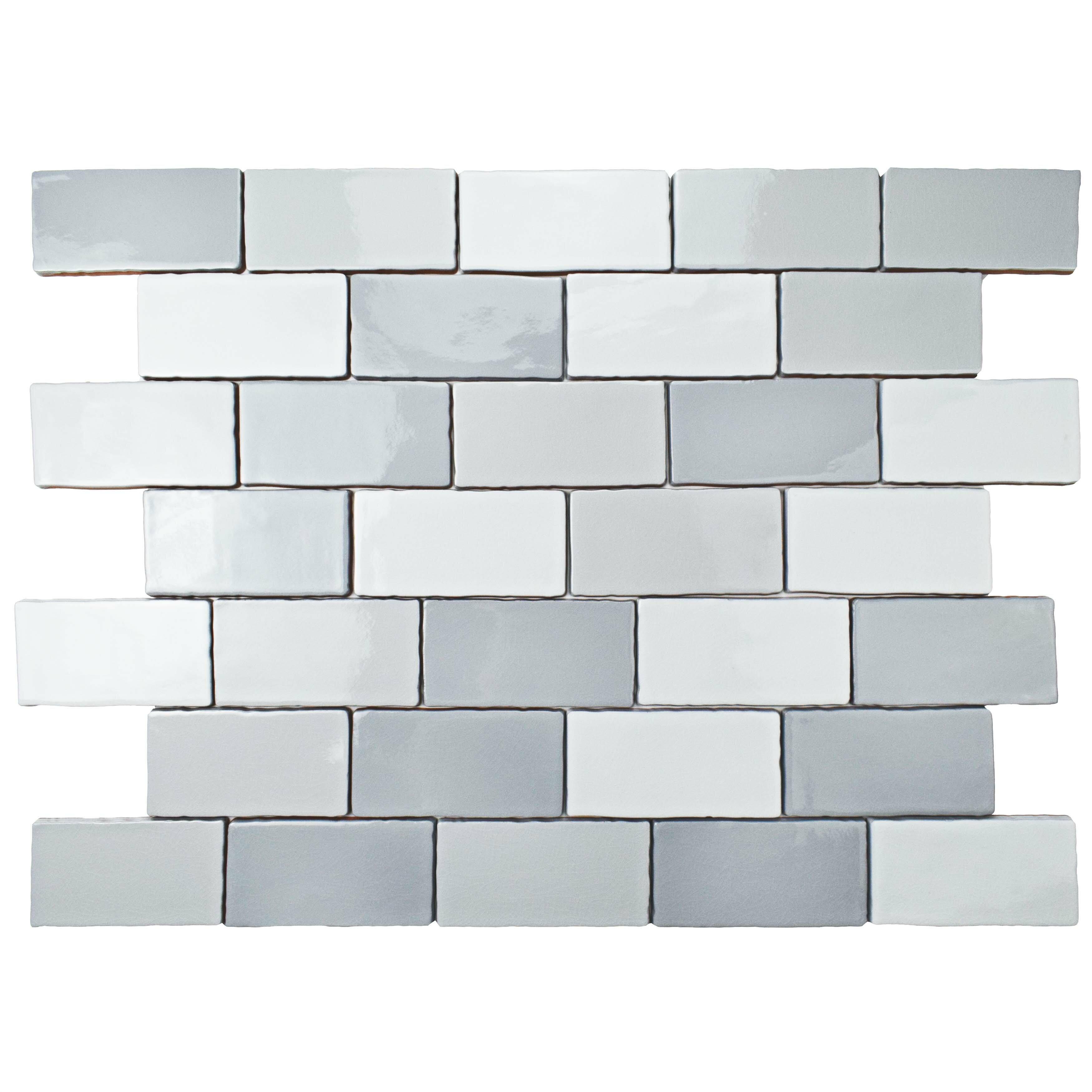 Elitetile Antiqua 3 X 6 Ceramic Subway Tile In Craquele Soho Gray Reviews Wayfair