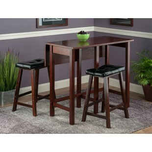 Bettencourt 3 Piece Counter Height Dining Set Red Barrel Studio
