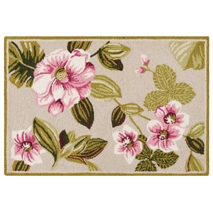 Reviews Arness Wool Pink/Green Area Rug By Charlton Home