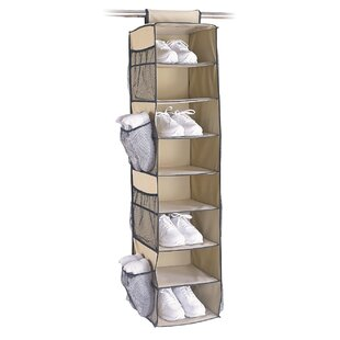 Organize It All Tetron 8-Pocket and 8-Compartment Hanging Shoe Organizer