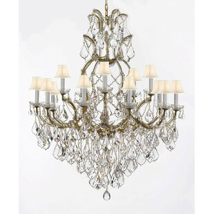 Rosdorf Park Lazaro 16-Light Shaded Chandelier