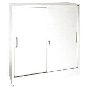 Sliding 2 Door Storage Cabinet by Sandusky Cabinets