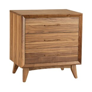 Luther 3 Drawer Nightstand