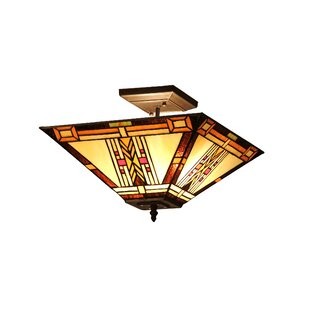 Fournier 2-Light Semi-Flush Mount by Loon Peak