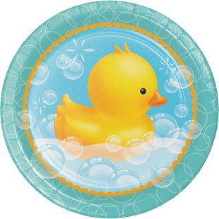 Rubber Duck Bubble Bath Paper Dessert Plate (Set of 24)