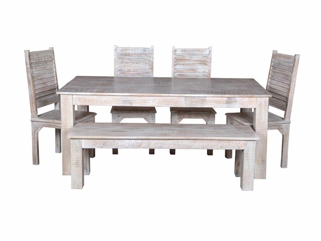Terrific Kamps 6 Piece Solid Wood Dining Set Ibusinesslaw Wood Chair Design Ideas Ibusinesslaworg