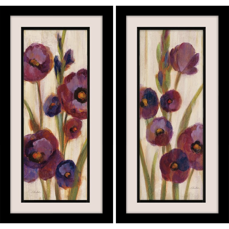 Star Creations Frosted Bloom In Neutral 2 Piece Framed Painting Print Set On Wrapped Canvas Wayfair