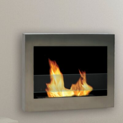 Anywhere Fireplace Soho Wall Mounted Bio-Ethanol Fireplace Finish: Stainless Steel