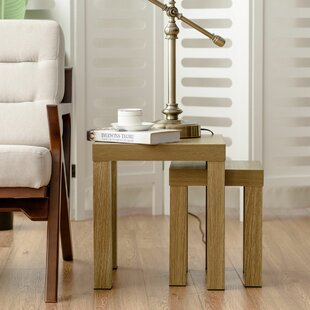 Compare prices Vanbrugh 2 Piece Nesting Tables By Winston Porter