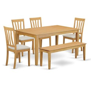 Capri 6 Piece Dining Set by Wooden Importers