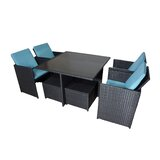 Dinah Wicker 9 Piece Dining Set