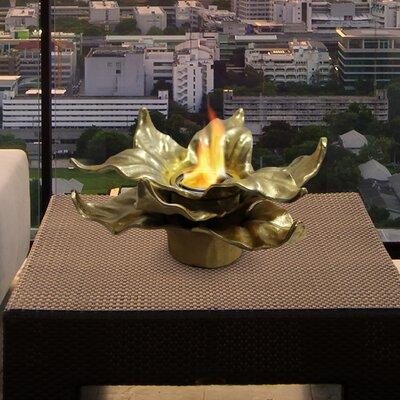 Heathcote Botanical Gel Fuel Tabletop Fireplace Anywhere Fireplace Finish: Gold