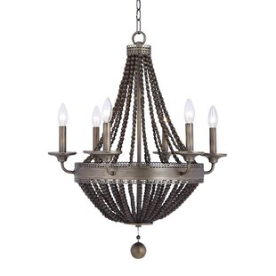 Atticus 6-Light LED Empire Chandelier by Breakwater Bay