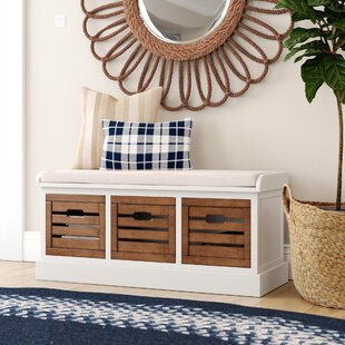 Sonderborg Wood Storage Bench by Laurel Foundry Modern Farmhouse