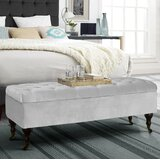 Coleford Tufted Upholstered Storage Bench by Three Posts