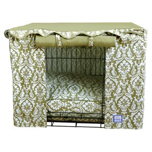 Damask Dog Crate Cover