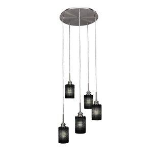 Keon 5-Light Cluster Pendant by Ebern Designs