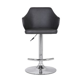 Adelbert Adjustable Height Swivel Bar Stool by Wrought Studio