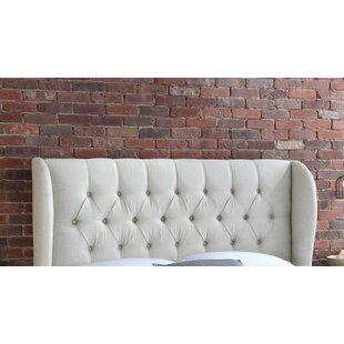 Affordable Price Stowmarket Tufted Diamond Upholstered Wingback Headboard by House of Hampton