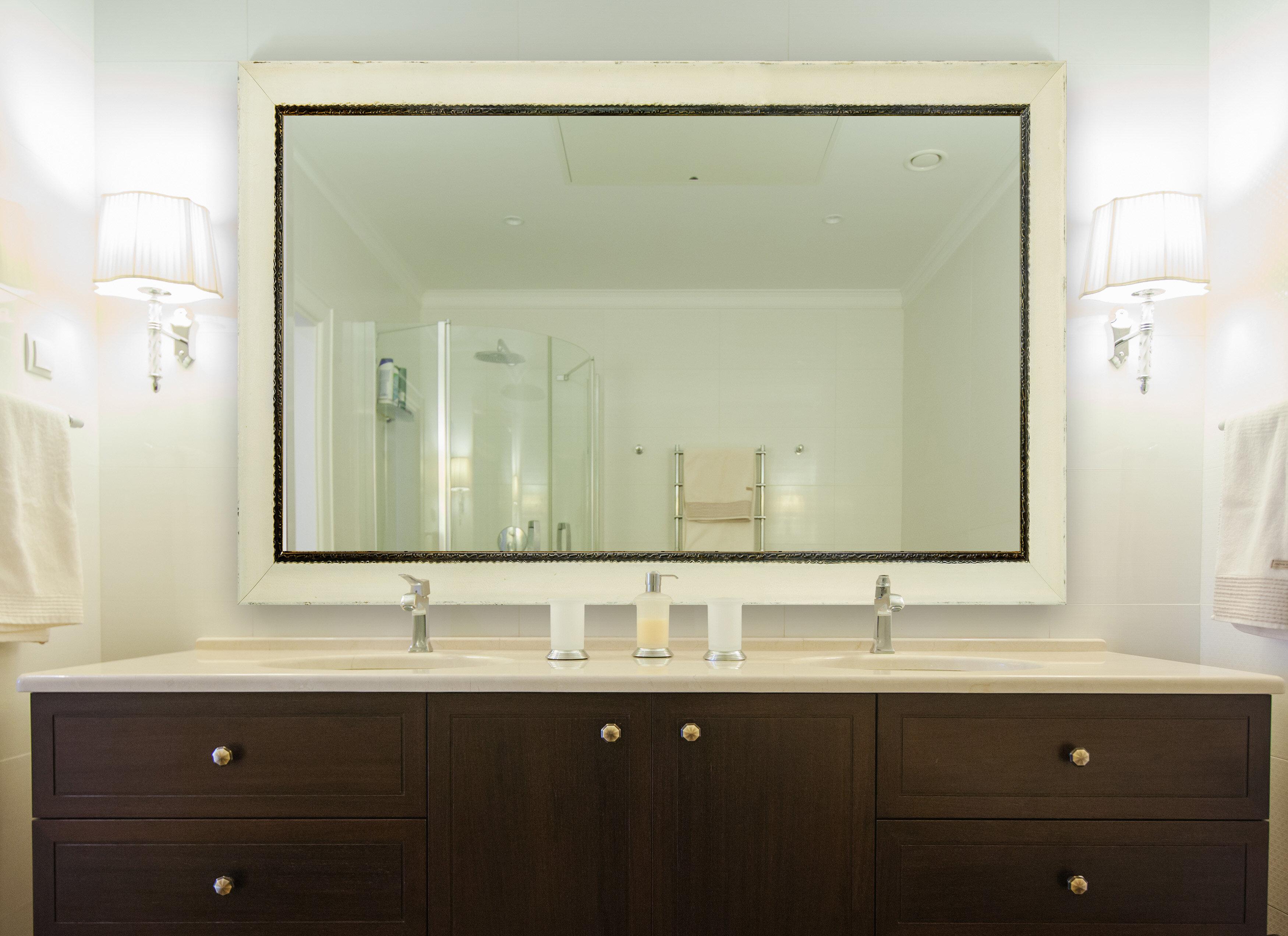 One Allium Way Arbonne Jaded Large Vanity Mirror Wayfair