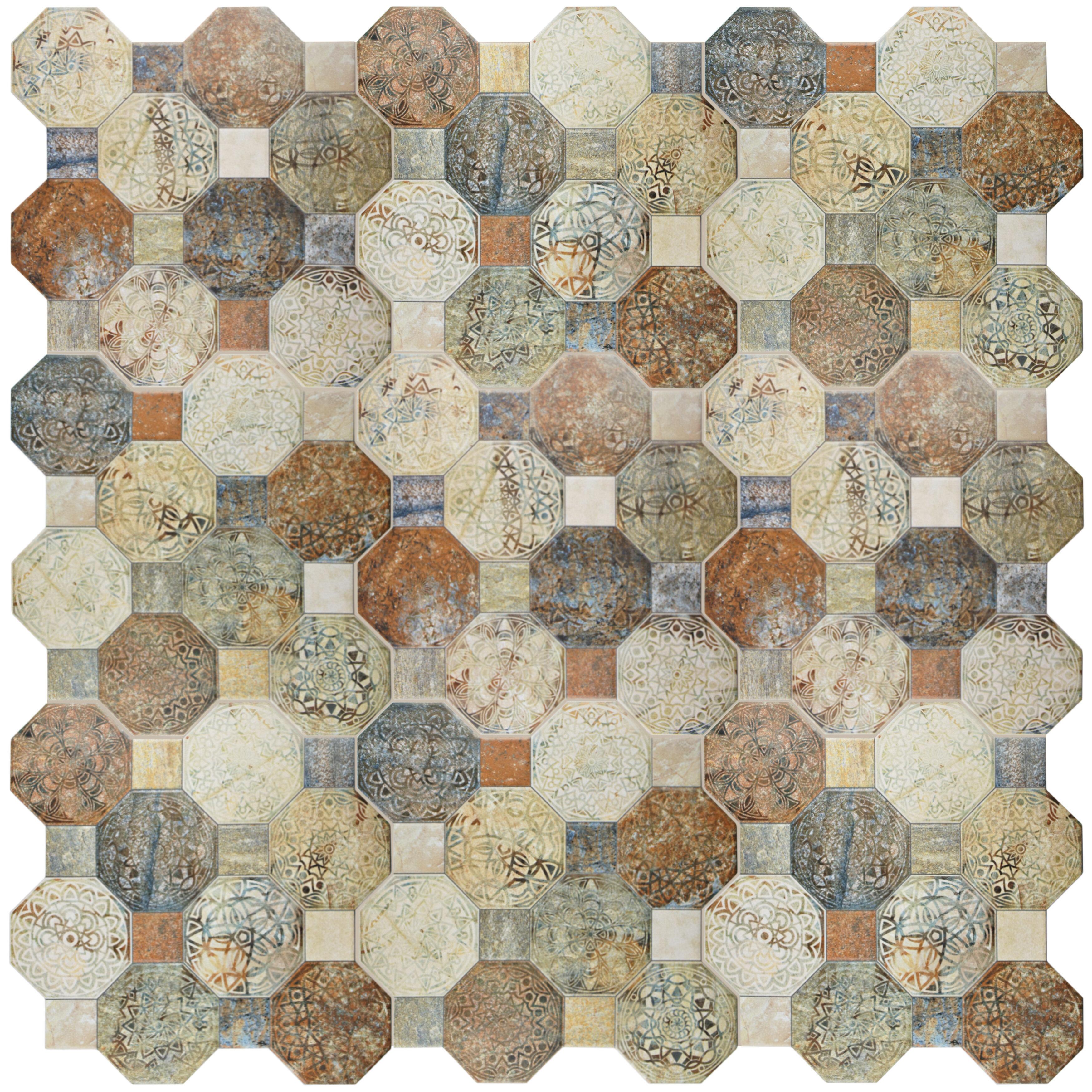 Elitetile Sileco 17 75 X Ceramic Tile In Beige Brown Green Reviews Wayfair