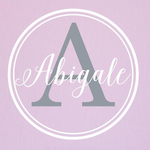 Alphabet Garden Designs Abigail Double Circle Leaf Vine