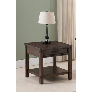 Compare prices Drogo End Table with Storage By Gracie Oaks