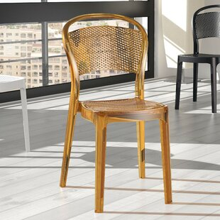 Cancel Bee Stacking Dining Chair (Set of 2) Orren Ellis