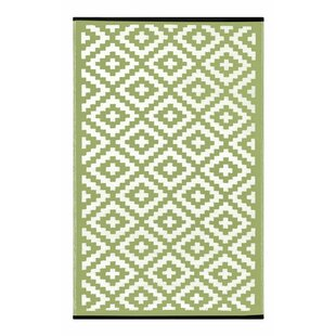 Comparison Lightweight Reversible Leaf Green/Ivory Indoor/Outdoor Area Rug By Wildon Home ®