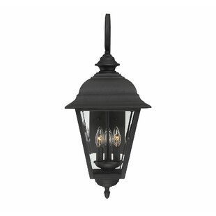 Savings Hartnett 3-Light Outdoor Wall Lantern By Alcott Hill