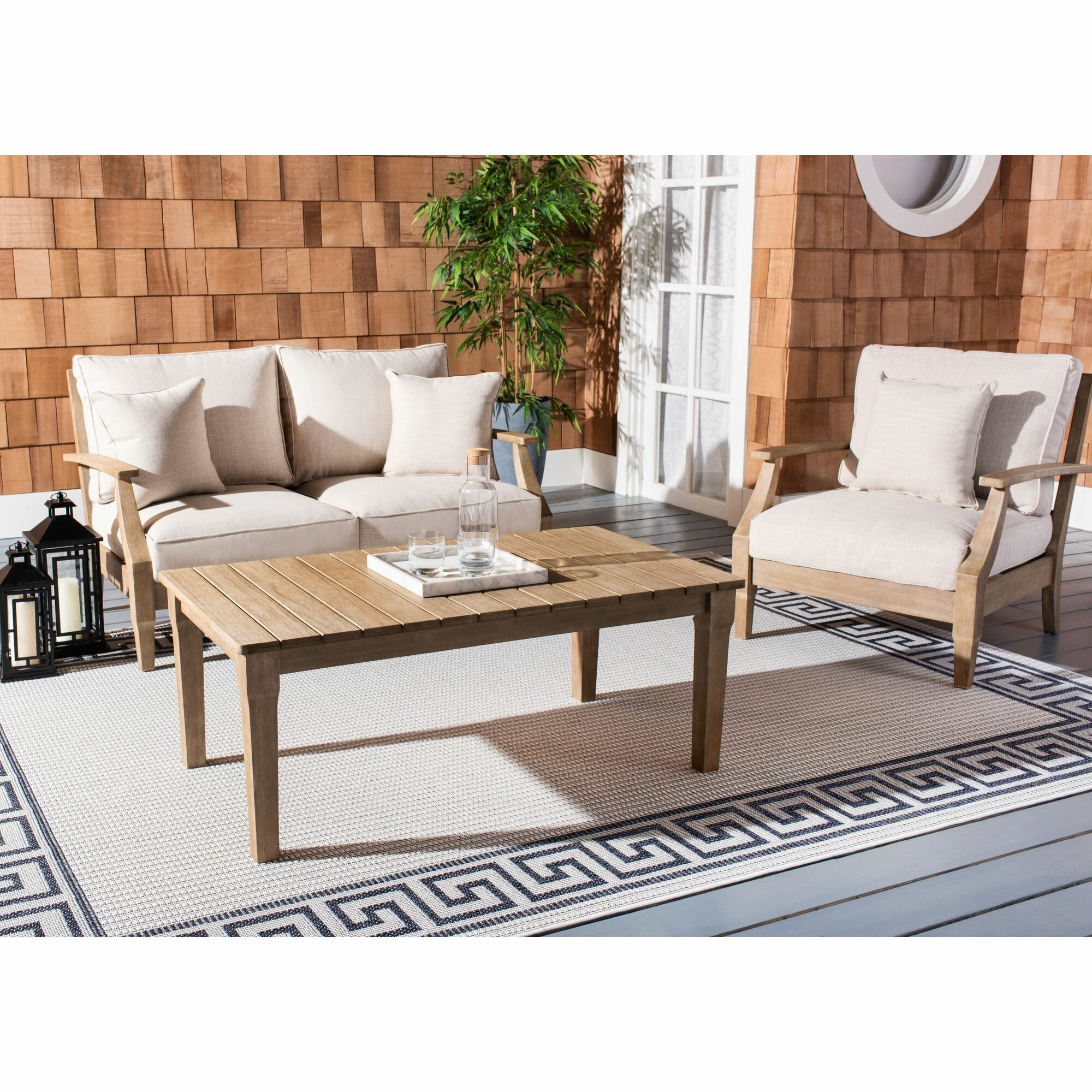 Highland Dunes Ducan Wooden Coffee Table Reviews Wayfair