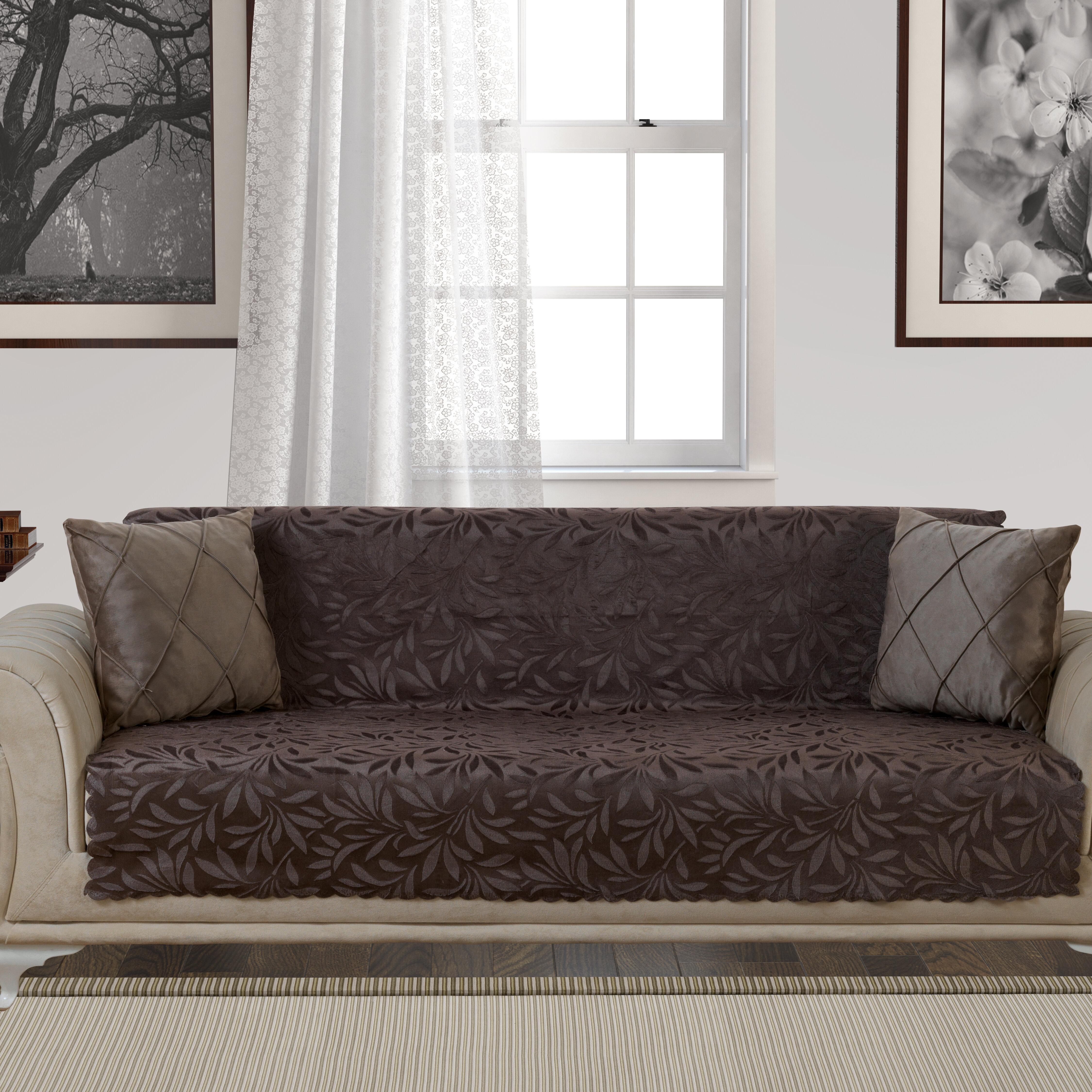 Red Barrel Studio Acacia Anti Slip Pet Furniture Protector Box T Cushion Sofa Slipcover Reviews Wayfair