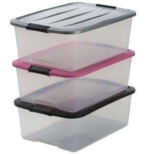Top Plastic Storage Box (Set Of 3) By IRIS