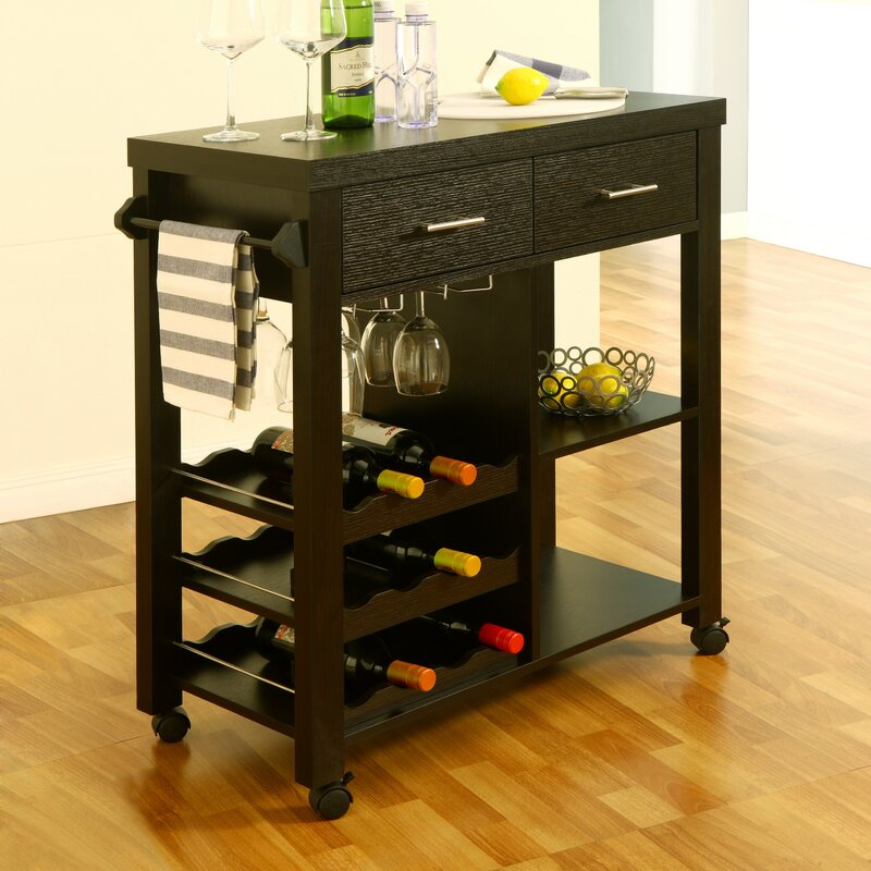 Charlton Home Sanderson Bar Cart Amp Reviews Wayfair