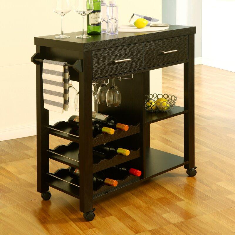 Charlton Home Sanderson Bar Cart Amp Reviews Wayfair