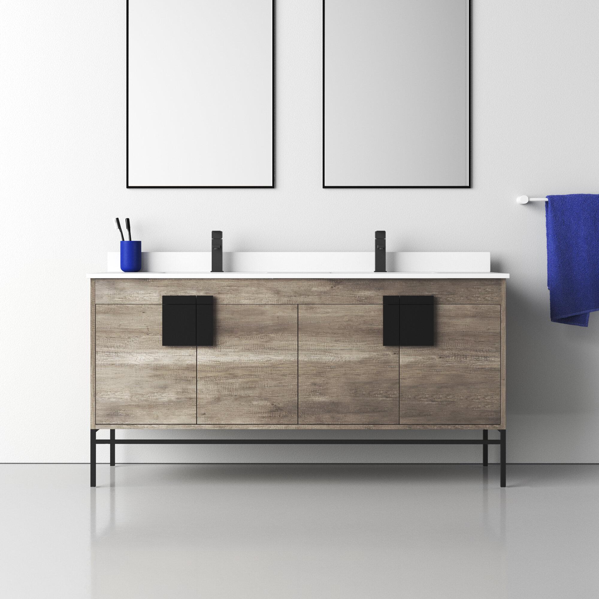 Allmodern Lee 60 Double Bathroom Vanity Set Reviews Wayfair