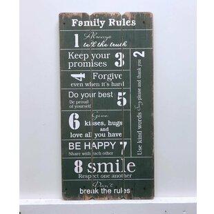 Family Rules Sign Wayfair