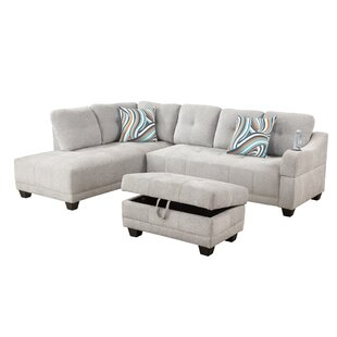 Rezzan Sectional with Ottoman by Ebern Designs