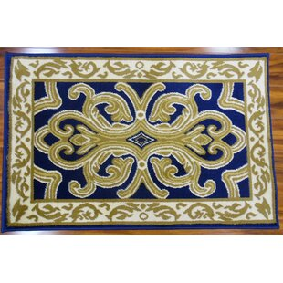 Hampshire Classical Navy/Light Beige Indoor/Outdoor Area Rug