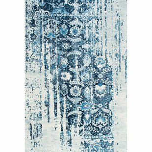 Look for Montagne Blue/White Area Rug ByOne Allium Way