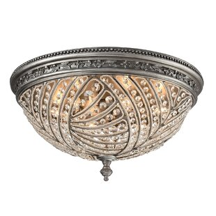 Rosdorf Park Jaidan Metal 6-Light Flush Mount