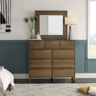 Hosier 9 Drawer Double Dresser with Mirror