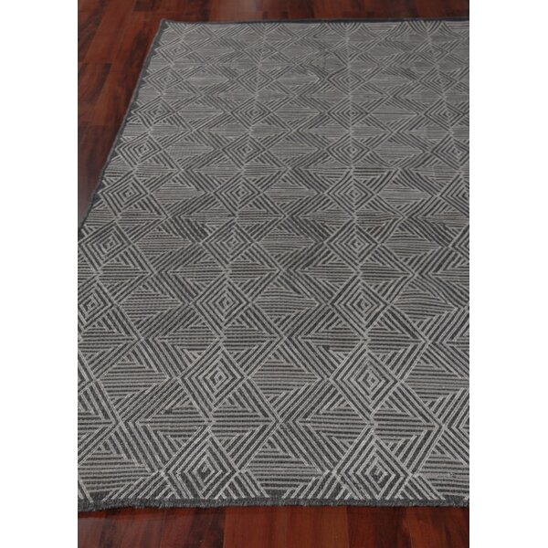 Exquisite Rugs Pavillion Hand Woven Wool Charcoal Area Rug Wayfair