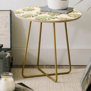 Dash and Ash Palm Oasis Round End Table