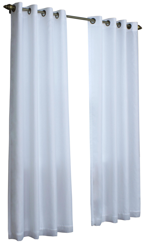 Zipcode Design Irene Solid Semi-Sheer Thermal Grommet Single Curtain ...